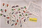 Click here to enlarge image and see more about item t00953: Cracker Jack Toy 1971 Picture Dominos