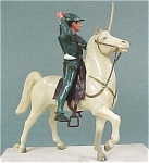 Click here to enlarge image and see more about item t00980: 1950s Breyer Robinhood on Horse