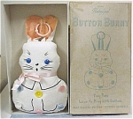 Click here to enlarge image and see more about item t00987: 1940s Dr Allen's Baby's Pal Button Bunny