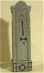 Click here to enlarge image and see more about item t01085: Strombecker 1940s Wood Dollhouse Grandfather Clock