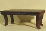 Click here to enlarge image and see more about item t01099: 1940s Nancy Forbes Wood Dollhouse Table