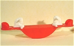 Click here to enlarge image and see more about item t01125: Acme / Thomas Industries Dollhouse Horse Teeter Totter