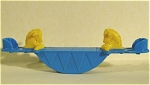 Click here to enlarge image and see more about item t01128: Acme / Thomas Industries Dollhouse Horse Teeter Totter