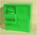 Click here to enlarge image and see more about item t01154: Marx Plastic Dollhouse TV Stereo