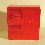 Click here to enlarge image and see more about item t01162: Marx Plastic Dollhouse TV Stereo