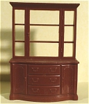 Click here to enlarge image and see more about item t01169: Marx Plastic Dollhouse China Cupboard