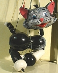 Click here to enlarge image and see more about item t01361: Pelham Cat Puppet