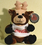 Click here to enlarge image and see more about item t01387: 1997 Coca Cola Reindeer Plush