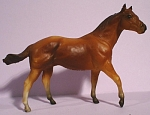 Click here to enlarge image and see more about item t01472: Breyer Stablemate G1 Chestnut Quarter Horse Stallion