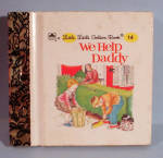 Click here to enlarge image and see more about item t01541: Little Little Golden Book #14 We Help Daddy