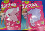 Click here to enlarge image and see more about item t01551: 1990 Barbie Clothes - My First Barbie, Two Packs