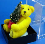 Click here to enlarge image and see more about item t01599m: World of Miniature Bears Plush Bear with Tree