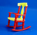 Click here to enlarge image and see more about item t01605: Renwal Dollhouse Rocking Chair