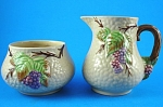 Click here to enlarge image and see more about item w00506: Wade Bramble Cream Pitcher and Open Sugar Bowl