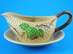 Click here to enlarge image and see more about item w00507: Wade Bramble Small Gravy Boat and Underplate