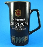 Click here to enlarge image and see more about item w00510: Wade Seagram's 100 Pipers Advertising Pitcher