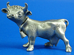 Click here to enlarge image and see more about item xa06226: Miniature Pewter Dairy Cow