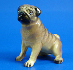 Click here to enlarge image and see more about item xh02372: Hagen-Renaker Miniature Sitting Pug