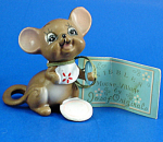 Click here to enlarge image and see more about item xjo00164: Josef Original Miniature Mice with Plate