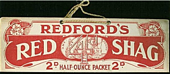 Antique sign 1914 Red Shag tobacco (Image1)