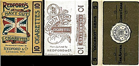 UNUSED CIGARETTE PACKAGES AND LINERS C.1910 (Image1)