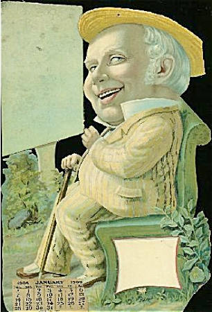 Antique 1906 calendar salesman's sample (Image1)