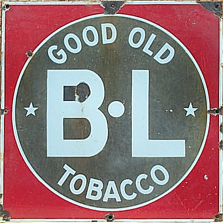 ANTIQUE TOBACCO ADVERTISING SIGN B L TOBACCO (Image1)