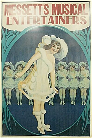 Vintage Poster MESSETT'S MUSICAL ENTERTAINERS C.1920 (Image1)