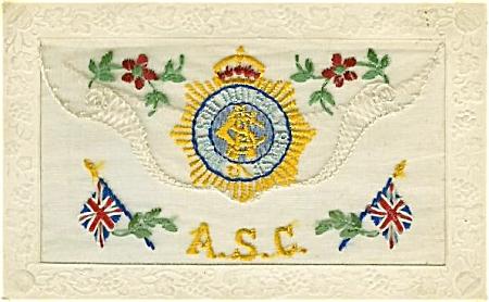 WWI SILK POSTCARD - BRITISH A.S.C. (Image1)