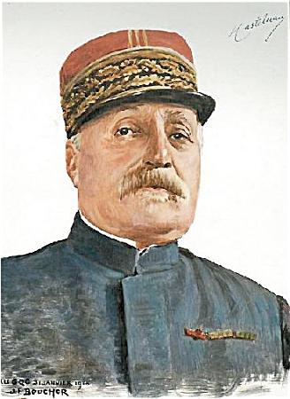 WWI PRINT BY BOUCHOR -GEN'L CASTLENAU C.1916. (Image1)