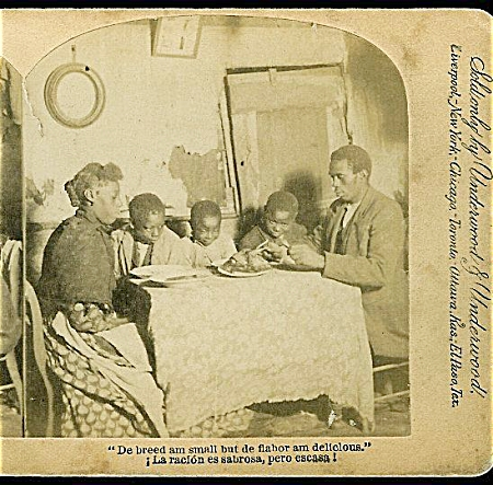 BLACK MEMORABILIA - STEREOVIEW C.1892. (Image1)