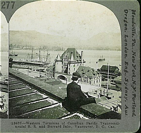 STEREOVIEW - VANCOUVER, WESTERN TERMINUS. (Image1)