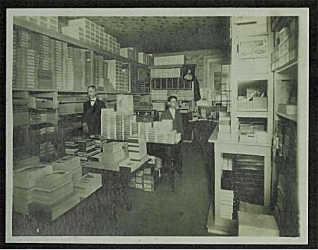 ANTIQUE PHOTO - STATIONERY STORE C.1900. (Image1)