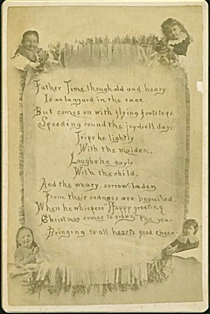 CABINET PHOTO – Christmas Poem surrounded by Kids! (Image1)
