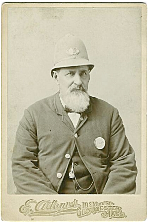 CABINET PHOTO OCCUPATIONAL POLICEMAN–GLOUCESTER MASS (Image1)