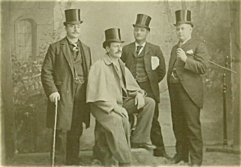 ANTIQUE PHOTO - THE TOPHAT GANG - 1890's - Large. (Image1)