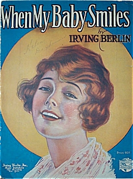 Sheet Music - WHEN MY BABY SMILES - I. Berlin (Image1)