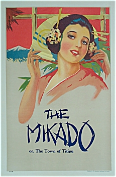 THE MIKADO or, The Town of Titipu C.1920 Poster.  (Image1)