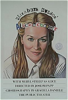 1980 PAUL DAVIS poster MERYL STREEP Alice in Concert (Image1)