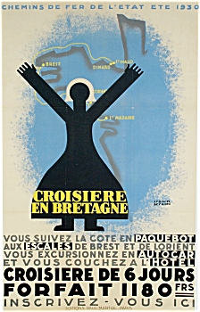 Vintage Poster FRANCIS BERNARD 1930 FRENCH RAIL  (Image1)