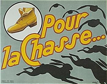 Poster French Hunting Boots C.1930 By Caddy