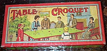 MILTON BRADLEY TABLE CROQUET GAME 1920-30 (Image1)