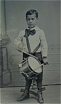 Tintype of Young Boy and Drum C.1860-70. (Image1)