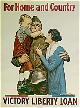 Wwi Original Poster For Home And Country 1918