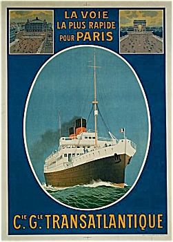 Original poster CGT French Line  ESPAGNE –C.1920s (Image1)