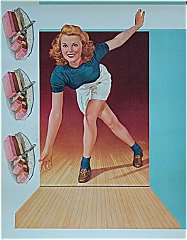Vintage Poster 1947 Albert Fisher BOWLING & ICE CREAM! (Image1)