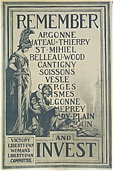 WWI Original Poster REMEMBER ARGONNE, CHATEAU-THIERRY (Image1)