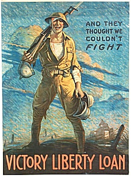 Original WWI poster AND THEY THOUGHT WE COULDN�T FIGHT (Image1)