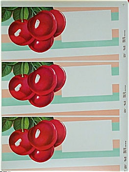 Vintage Poster -Uncut CHERRY BOX LABELS 1959. (Image1)