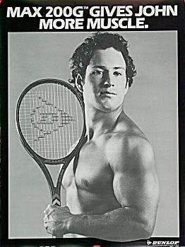 Vintage John McEnroe 1983 BODYBUILDER POSTER (Image1)